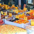Stock Photo: Sale of dried fruits and nuts on the market
