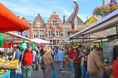 People at the fair in the festive city. Dordrecht, Netherlands — Stock Photo