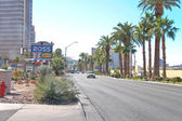 Cars on the road in the central part of town in Las Vegas, Nevad — Stockfoto