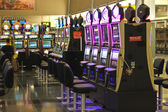 Slots in the airport McCarran in Las Vegas, Nevada — Stock Photo