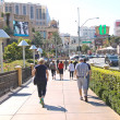Pedestrians in downtown  in Las Vegas, Nevada. — Stock Photo