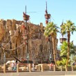 Pirate ship at pond near Treasure Island hotel in Las Vegas — Stockfoto #35576807