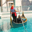 Gondola rides in Venetian Hotel in Las Vegas — Stock Photo