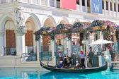 Gondola rides in Venetian Hotel in Las Vegas — Stock Photo