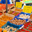 Sale of fruits and vegetables in the Dutch market — Stock Photo #36161197