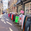 Selling clothes on street in Dordrecht, Netherlands — Foto Stock #36617589