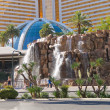 Stock Photo: Waterfall near Mirage hotel in Las Vegas