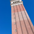 Venetian Hotel  in Las Vegas, Realistic replica tower of St Mark — Stock Photo