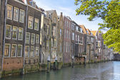 House on a canal in Dordrecht, Netherlands — Stock Photo