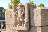 Monumento na cidade holandesa de dordrech, países baixos — Fotografia Stock