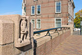Monument in the Dutch city of Dordrecht, Netherlands — Stock Photo