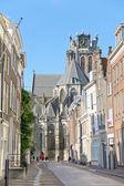 Grote kerk církve, hlavním lákadlem dordrecht. — Stock fotografie