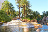 Waterfall at the hotel in Las Vegas — Foto Stock