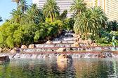 Waterfall at the hotel in Las Vegas — Zdjęcie stockowe