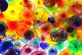 Glass flowers on the ceiling in Bellagio Hotel in Las Vegas — Stock Photo