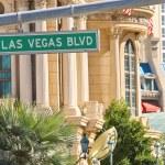 Signpost on the Las Vegas — Stock Photo
