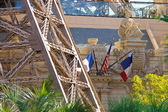Paris Hotel in Las Vegas with a replica of the Eiffel Tower. — Stock Photo