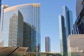 Ultramodern buildings hotels in City Center Las Vegas — Stock Photo