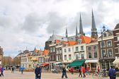 The central square in Delft. Netherlands — Stock Photo
