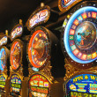 Slot machines in New York-New York Hotel and Casino in Las Vegas — Stock Photo