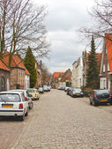 Cars on the street in the Dutch town of Heusden. — Stock Photo