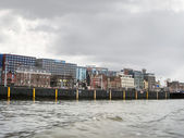 Embankment and modern buildings  in Amsterdam. Netherlands — Stockfoto