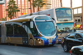 A regular and tourist buses in Las Vegas, Nevada. — Stockfoto