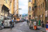 People on the street of the ancient Italian city Florence, Italy — Stock Photo