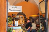 Návštěvníci café gelato ve florencii. itálie — Stock fotografie