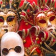 Souvenirs and carnival masks on street trading in Venice, Italy — Stock Photo #47809641