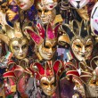 Souvenirs and carnival masks on street trading in Venice, Italy — Stock Photo #47809649