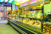 Interior and showcase ice cream parlor in Florence. Italy  — Stock Photo