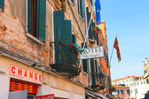 "Facade of the hotel ""Alle Guglie"" in Venice, Italy  — Stock Photo"