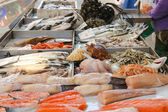 Sales of fresh fish on the market  — Foto de Stock