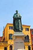 Statue of poet Paolo Sarpi in Venice, Italy — Stock Photo