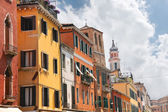 Facades of the houses on the street in Venice, Italy  — Stock Photo