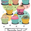 Cupcake card — Stock Vector #13288283