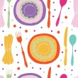Stock Vector: Dinner pattern