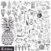 Set cucina — Vettoriale Stock