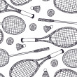 Royalty-Free Stock Vector Image: Badminton and tennis