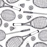 Badminton and tennis — Stock Vector