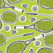 Badminton and tennis background — Stock Vector #13662432