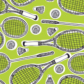 Badminton and tennis background — Stock Vector