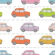 Stock Vector: Retro cars background