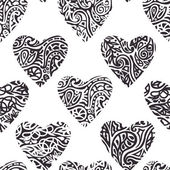 Heart ornate pattern — Vector de stock