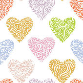 Heart ornate background — Vector de stock