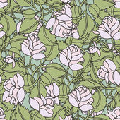 Fondo de rosas blancas — Vector de stock
