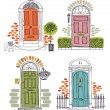 Doors — Stock Vector