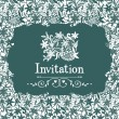 Stock Vector: Lace invitation