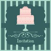 ροζ γαμήλια τούρτα — Διανυσματικό Αρχείο